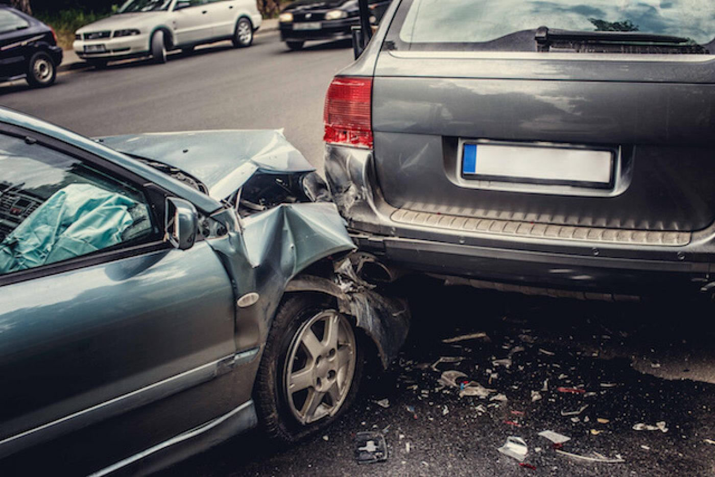 Car accident lawsuit between two vehicles