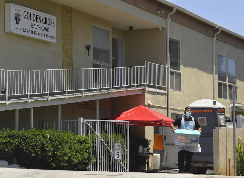 Dozens of Residents Evacuated from a Pasadena Nursing Home Due to COVID-19 Outbreak