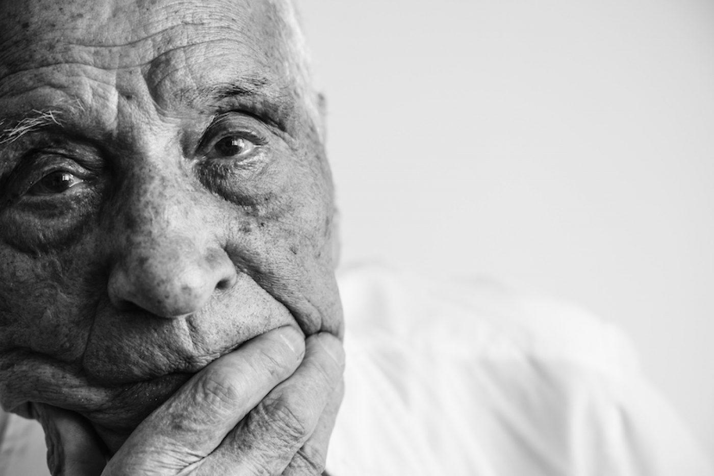 Elder man experiencing emotional abuse